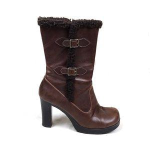 Vintage Candie's brown chunky platform boots 8